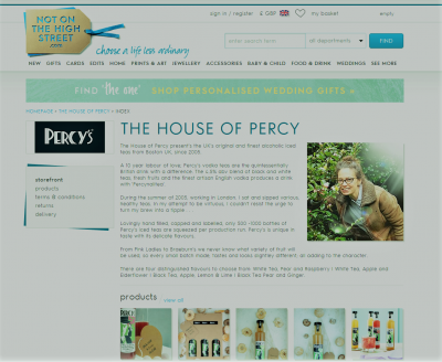 Not on the high street percys alcoholic iced teas not on the high street pages are full of unique and thoughtful gifts that will inspire you you will never be stuck for gift ideas again for personalised negle Choice Image
